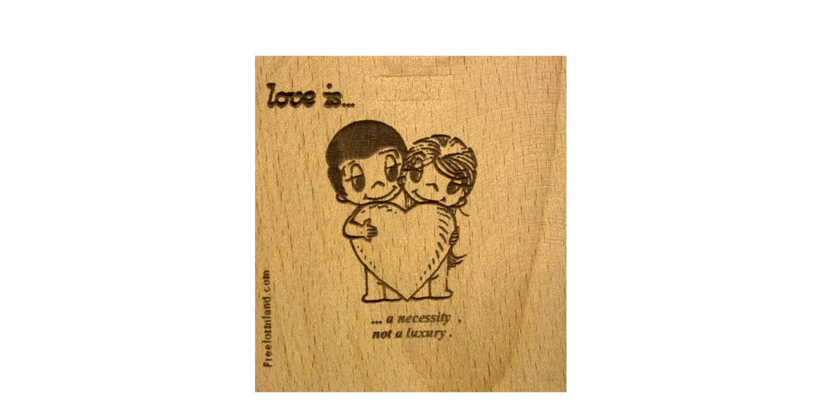 طرح 1 --- love is چوب نبشته