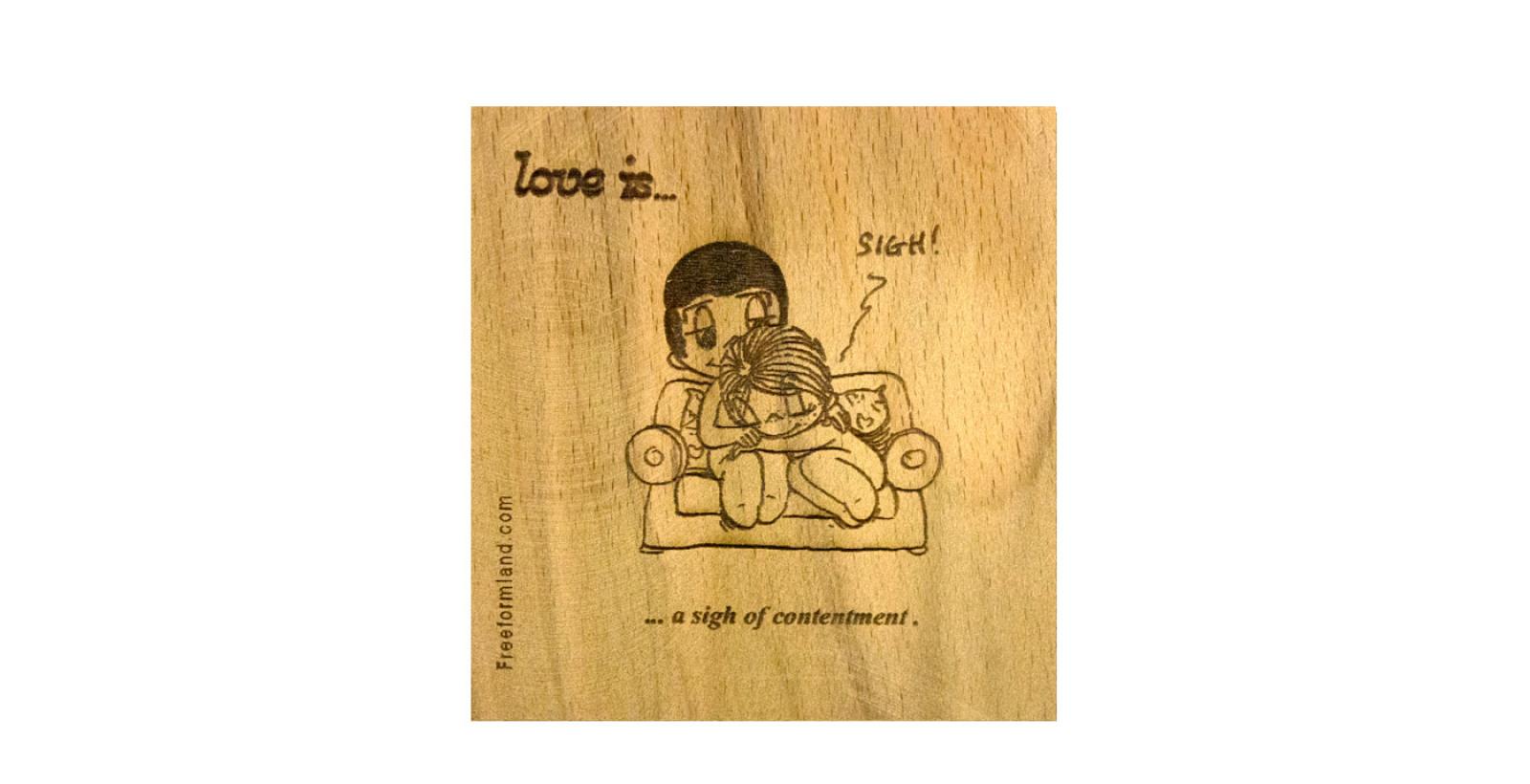 طرح 6 --- love is چوب نبشته