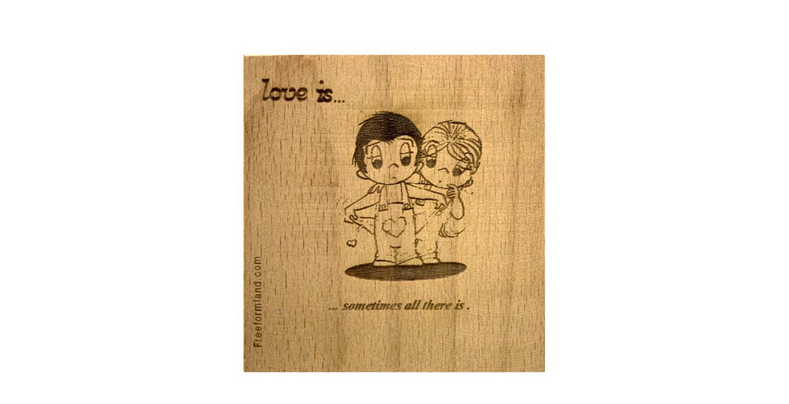 طرح 9 --- Love is چوب نبشته