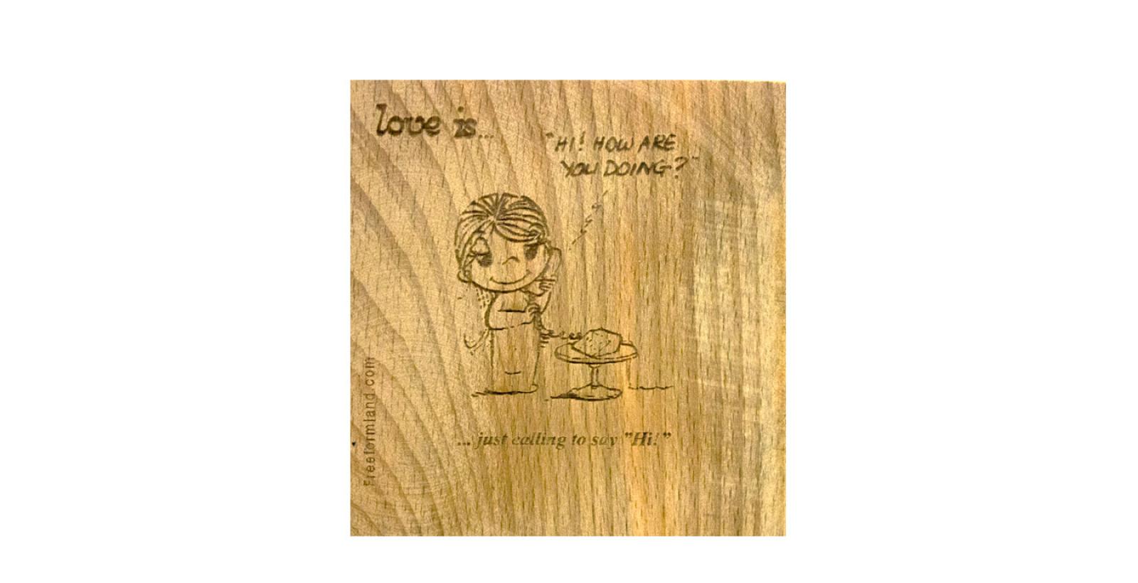 طرح 10 --- Love is چوب نبشته