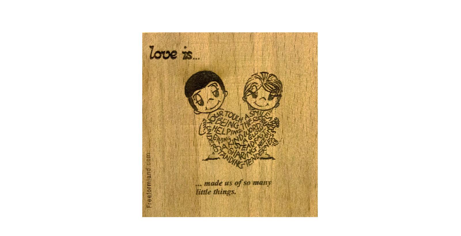 طرح 11 --- love is چوب نبشته