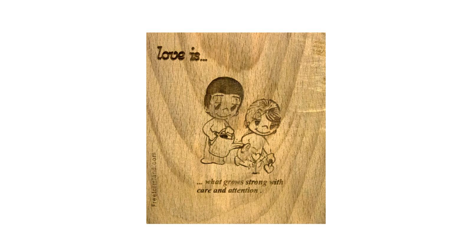 طرح 12 --- love is چوب نبشته