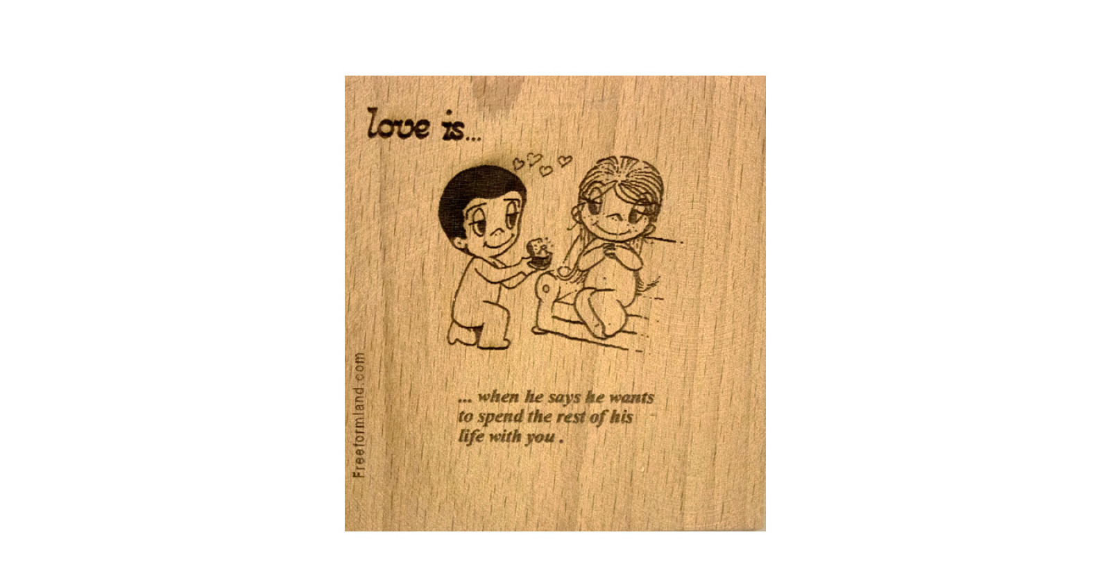 طرح 14 --- love is چوب نبشته