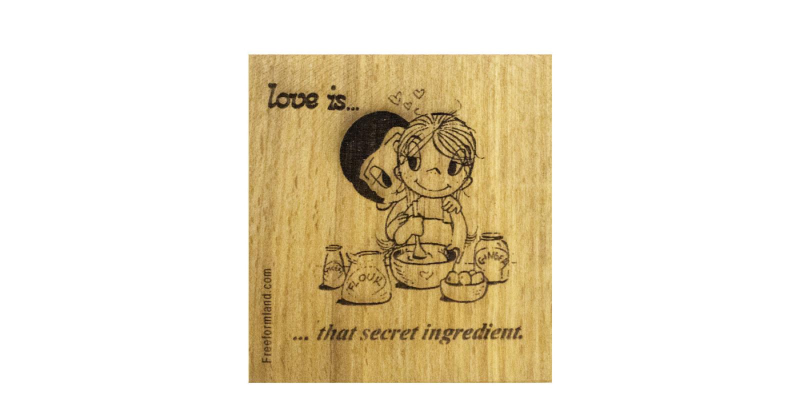 طرح 17 --- Love is چوب نبشته