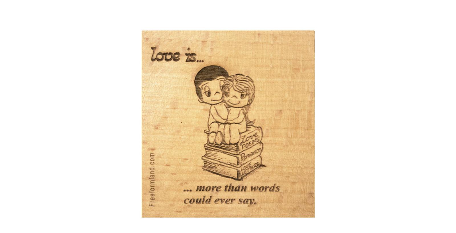 طرح 25 --- Love is چوب نبشته