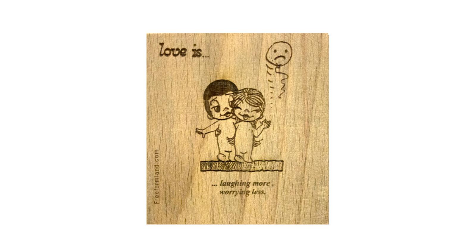 طرح 5 --- love is چوب نبشته