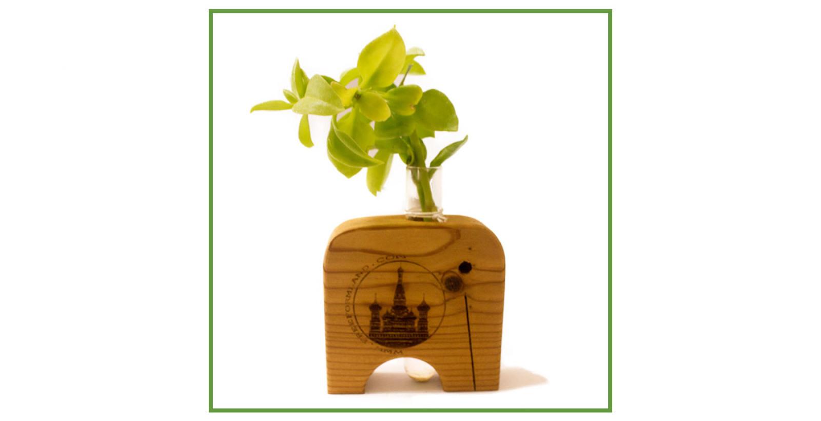 Free Flower No.8 --- فیل گلدان رومیزی