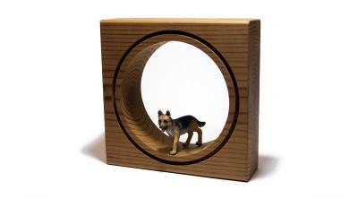 قاب حیوانات مینیاتوری کوچک --- طرح سگ ژرمن